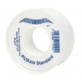 GEB Ruban d'étanchéité PTFE standard Lg : 12 m Larg : 19 mm Ep : 0,075 mm La pièce réf 815194 815194