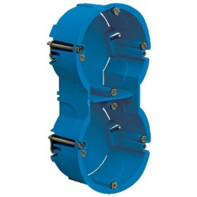 SCHNEIDER Boîte - 2 postes - entraxe 71mm - diamètre 67mm - P40mm Multifix ALB71332