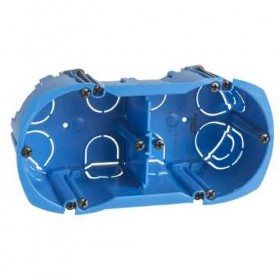 SCHNEIDER Boîte - 2 postes - entraxe 71mm - diamètre 67mm - P50mm Multifix ALB71335