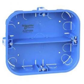 SCHNEIDER Boîte - 6 postes - 165x142mm - prof. 40mm - 2 rangées de 3 postes Multifix ALB71338