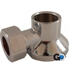 ALTECH Applique machine à laver chromée écrou DN 1/2? D.12 à 14 APL1311
