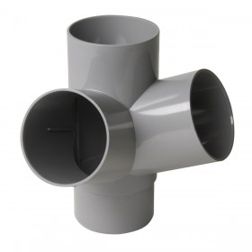 NICOLL Culotte MF double d'équerre à 67°30 - AT16 - PVC gris - diamètre 100 mm NICOLL AT16