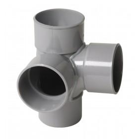 NICOLL Culotte double équerre 87°30 MF PVC pour tube d'évacuation gris - diamètre 100 et nbspm NICOLL AT18
