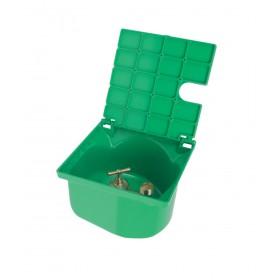 NICOLL Bouche d'arrosage à robinet BAC227 - PVC vert + zinc - 200x200x140 mm NICOLL BAC227