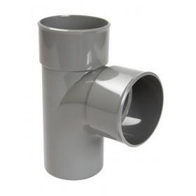 NICOLL Culotte et embranchement simple mâle-femelle à 87°30 - BF18 - PVC gris - diamètre 32 mm NICOLL BF18