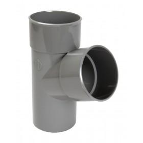 NICOLL Culotte et embranchement simple mâle-femelle à 67°30 - BJ16 - PVC gris - diamètre 50 mm NICOLL BJ16