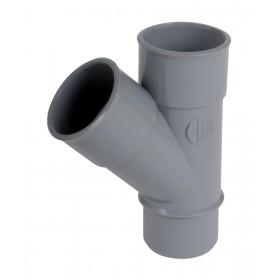NICOLL Culotte et embranchement simple mâle-femelle à 45° - BL14 - PVC gris - diamètre 63 mm NICOLL BL14