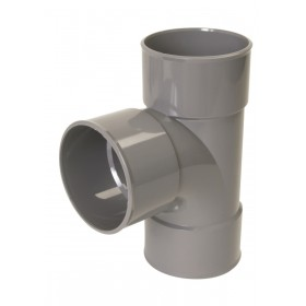 NICOLL Culotte simple Femelle femelle 87°30 PVC gris - diamètre 75 mm NICOLL BP188