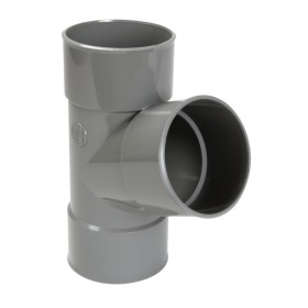 NICOLL Culotte Femelle femelle simple 67°30 - BR166 - PVC gris - diamètre 80 mm NICOLL BR166