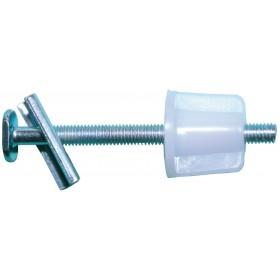 GOTRAVO Fixation WC pour abattant diamètre : 6 Lg : 75 mm sachet BRO92800