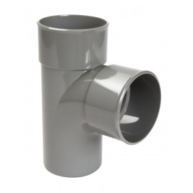 NICOLL Culotte mâle femme BT118 diamètre 100 mm 87°30 simple gris NICOLL BT18