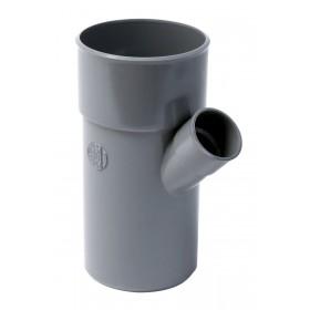 NICOLL Embranchement simple mâle-femelle 45° PVC pour tube d'évacuation gris - diamètre 100/5 NICOLL BT64