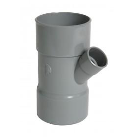 NICOLL Culotte simple Femelle femelle 45° PVC gris - diamètre 100/40 mm NICOLL BT744