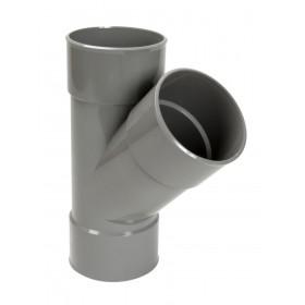 NICOLL Culotte simple 45° Femelle femelle PVC pour tube d'évacuation gris - diamètre 125 NICOLL BX144
