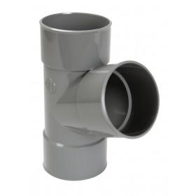 NICOLL Culotte Femelle femelle simple 67°30 - BX166 - PVC gris - diamètre 125 mm NICOLL BX166