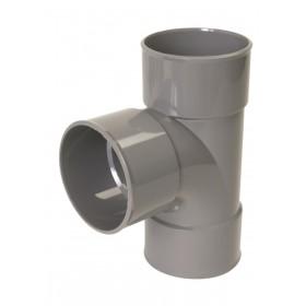 NICOLL Culotte Femelle femelle simple 87°30 - BX188 - PVC gris - diamètre 125 mm NICOLL BX188