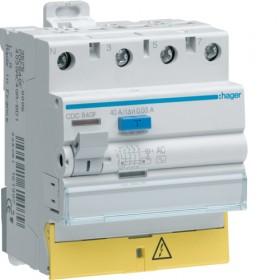 HAGER Interrupteur différentiel 3 P + N 63A 30mA type AC à Bornes décalées CDC863F