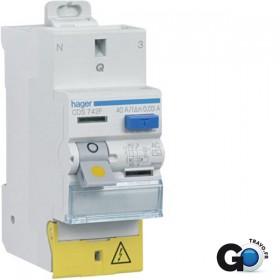 HAGER Interrupteur Différentiel Phase / Neutre 40A 30mA AC SanVis CDS742F
