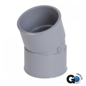 NICOLL Coude femelle-femelle 20° - CH22 - PVC gris - diamètre 40 mm NICOLL CH22