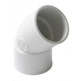 NICOLL Coude femelle femelle 45° diamètre 40mm blanc CH44B NICOLL CH44B