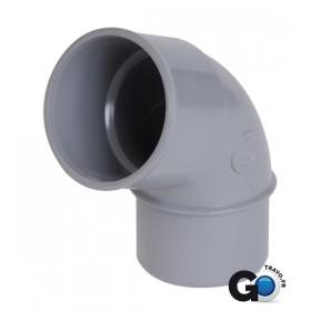 NICOLL Coude mâle-femelle 67°30 - CH6 - PVC gris - diamètre 40 mm NICOLL CH6