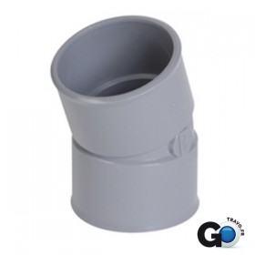 NICOLL Coude femelle-femelle 20° - CJ22 - PVC gris - diamètre 50 mm NICOLL CJ22