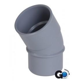NICOLL Coude mâle-femelle 30° - CJ3 - PVC gris - diamètre 50 mm NICOLL CJ3