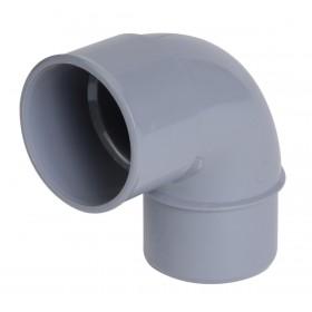NICOLL Coude mâle-femelle 87°30 - CJ8 - PVC gris - diamètre 50 mm NICOLL CJ8