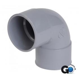 NICOLL Coude femelle-femelle 87°30 - CL88 - PVC gris - diamètre 63 mm NICOLL CL88