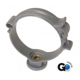NICOLL Collier monobloc pour tube de descente CM40 - PP gris - diamètre 40 mm NICOLL CM40