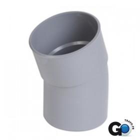 NICOLL Coude 20° MF PVC pour tube d'évacuation gris - diamètre 75 et nbspmm NICOLL CP2