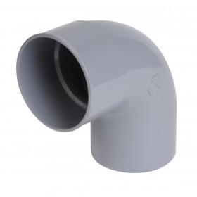NICOLL Coude mâle femelle CR8 diamètre 80 mm 87°30 simple gris NICOLL CR8