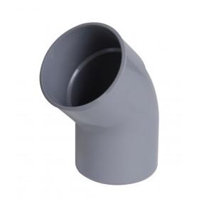 NICOLL Coude mâle femelle CT4 diamètre 100 mm 45° gris NICOLL CT4