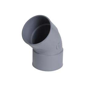 NICOLL Coude 45° Femelle femelle PVC pour tube d'évacuation gris - diamètre 110 mm NICOLL CV44