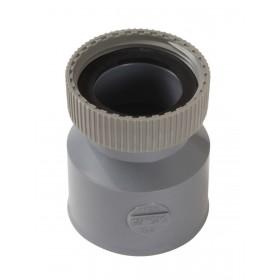 NICOLL Douille femelle à écrou prisonnier - DEHH - PVC gris - diamètre 40 mm NICOLL DEHH