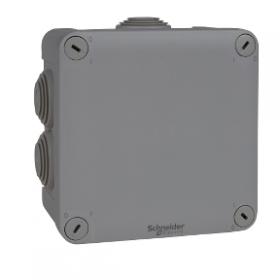 SCHNEIDER Boite de dérivation IP55 + embouts 105x105x55, gris ENN05005