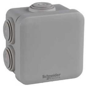 SCHNEIDER Boite de dérivation IP55 + embouts 65x65x45 gris Mureva Box ENN05032