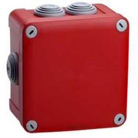 SCHNEIDER Boite derivation rouge+ embout 105x105x55 ENN05165