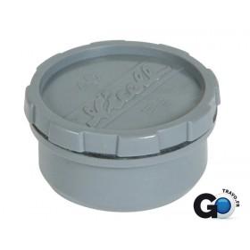 NICOLL Tampon de visite mâle-femelle + bouchon - ref. FH - PVC gris - diamètre 40 mm NICOLL FH