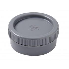 NICOLL Tampon de visite mâle-femelle + bouchon - ref. FL - PVC gris - diamètre 63 mm NICOLL FL