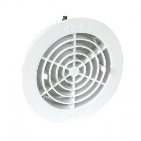 NICOLL Grille d'aération - GATM140 - blanc - diamètre 161/127 mm - ép. 38 mm - tube diamètre 140 mm GATM140