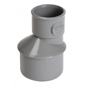 NICOLL Réduction extérieure excentrée mâle-femelle - IH1 - PVC gris - diamètre 40/32 mm NICOLL IH1