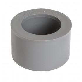 NICOLL Réduction incorporée mâle-femelle - IJF - PVC gris - diamètre 50/32 mm NICOLL IJF