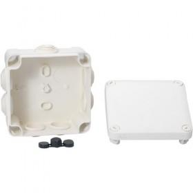 SCHNEIDER Boite de dérivation avec embouts - 80x80x45 - IP55 - blanc polaire IMT05024