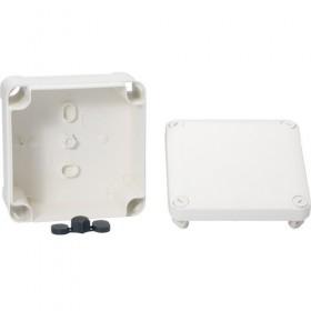 SCHNEIDER Boite de dérivation face lisse - 80x80x45 - blanc polaire. Mureva Box IMT05064