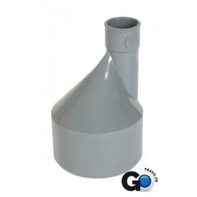 NICOLL Réduction extérieure excentrée MF PVC pour tube d'évacuation gris - diamètre 80/75 mm NICOLL IR1