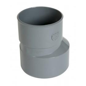NICOLL Réduction extérieure excentrée MF PVC pour tube d'évacuation gris - diamètre 100/63 mm NICOLL IT4