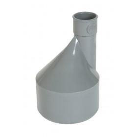 NICOLL Réduction extérieure excentrée MF PVC pour tube d'évacuation gris - diamètre 140/125 mm NICOLL IY1