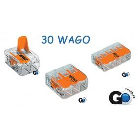 WAGO LOT de 30 WAGO ( Double x10, Triple x10, Quintuple x10 ) LOT30WAGO221