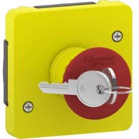 SCHNEIDER Arrêt d'urgence à clé - composable IP55 - IK08 - jaune Mureva Styl - MUR35052